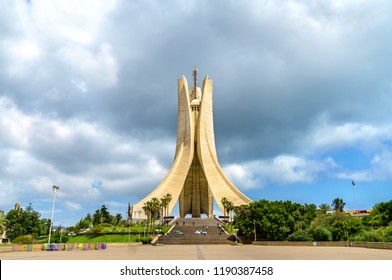 Martyrs Memorial for Heroes killed during the Algerian war of independence. Algiers, North Africa