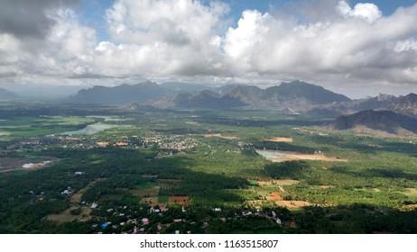 """Marvellous view of the western ghat mountains of Kanyakumari district - Tamil nadu"""
