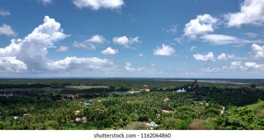 """Marvelous aerial views of Kanyakumari, Tamil nadu"""