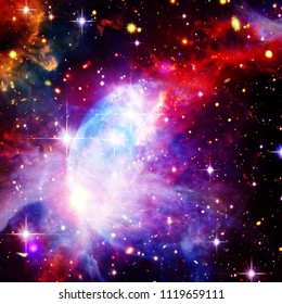Marvelous galaxy, nebula and stars. The elements of this image furnished by NASA.