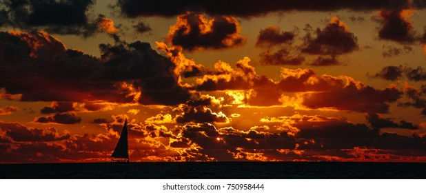 A marvelous sunset red fire color