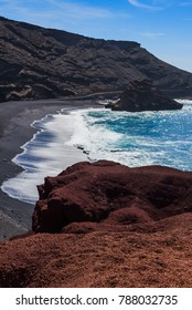 Marvelous view of the gulf of El Golfo. Lanzarote. Canary Islands. Spain