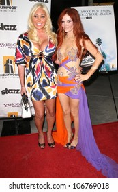 Mary Carey and Phoebe Price  at the Opening Night of the 12th Annual Hollywood Film Festival. Arclight Cinemas, Hollywood, CA. 10-22-08