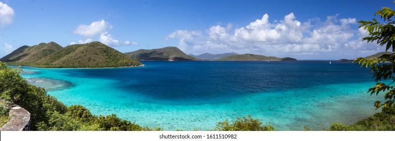 Mary Creek on Leinster Bay, St John, US Virgin Islands in the Caribbean