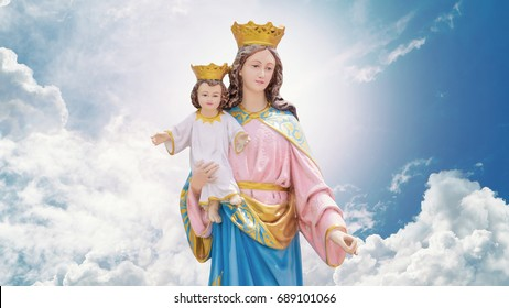 Mary and Jesus in heaven