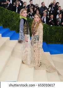 Mary Kate Olsen and Ashley Olsen attend the 2017 Metropolitan Museum of Art Costume Institute Gala at the Metropolitan Museum of Art in New York, NY on May 1st, 2017
