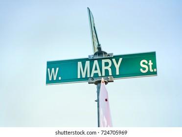 Mary Street Sign