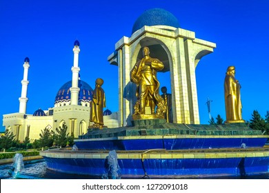 Mary Turkmenistan Ring Road Statues of Turkmen Historical Figures