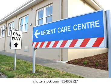 MARYBOROUGH, VICTORIA, AUSTRALIA - August 21, 2015: The Urgent Care Centre is part of Maryborough's hospital and medical precinct, governed under Maryborough and District Health Services