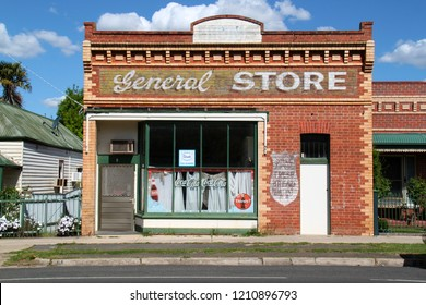 Maryborough Victoria AUSTRALIA - October 13, 2018: Old General Store Building on the side of the road in a country town