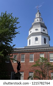 The Maryland State Capitol Building in Annapolis, Maryland.