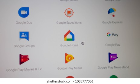 Maryland, United States of America - May 7, 2018: Google Home