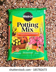 MARYLAND, USA - APRIL 5, 4014:  Image of Miracle Gro potting mix.  The Miracle Gro brand is one of the most recognized brands in the lawn and garden industry.