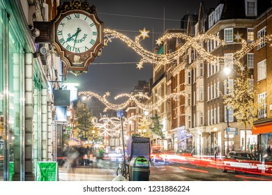 Marylebone decorated for Christmas, London