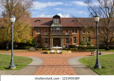 Marylhurst, Oregon / USA - Oct 29, 2018: The main building of the defunct Marylhurst University. Marylhurst University announced its closure in May 2018 after 125 years of operation.