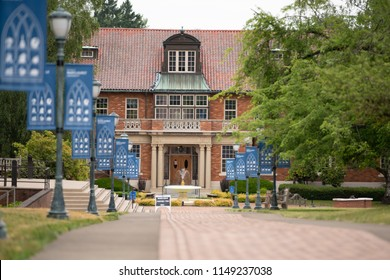 Marylhurst, OR / USA - June 22 2018: Marylhurst University is a private, nonprofit applied liberal arts and business university located in Marylhurst, Oregon.