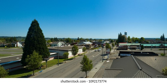 Marysville, Washington/USA - May 13, 2018: Watertower Road Aerial View