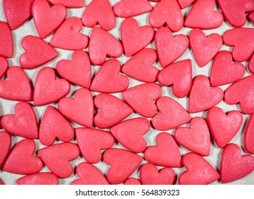 marzipan hearts background. Valentine's Day