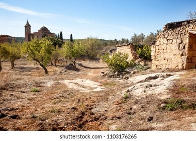 Mas of Llaurador. Village destroyed in the Spanish Civil War