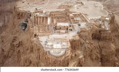 正田 – イスラエル南部の古代要塞の空撮画像