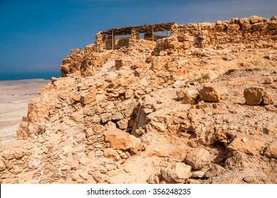 Masada - ancient fortress in the South of Israel, on the eastern edge of the Judean Desert overlooking the Dead Sea.