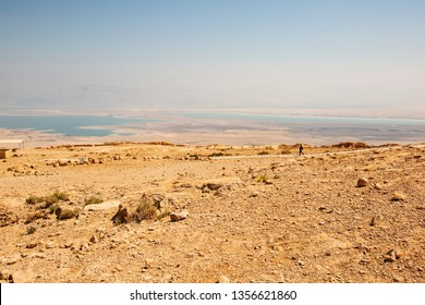 Masada fortress, ancient fortification in Israel situated on top of an isolated rock plateau.