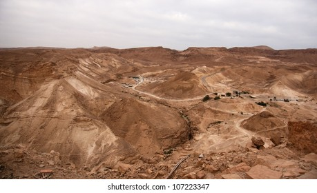 Masada fortress and king Herod's palace in Israel judean desert travel