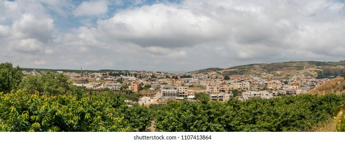 Mas'ade, druze village at the northern Golan Heights