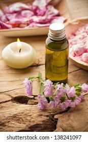 Masage body oil.