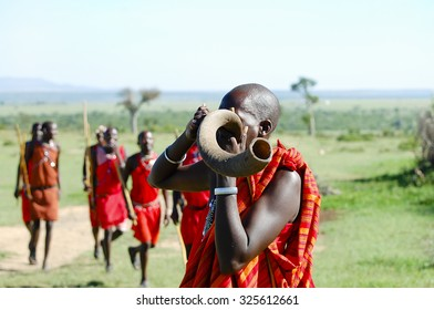 Masai Kudu Horn Blowing - Kenya