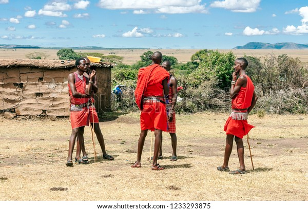 Masai Marakenyamay 14portrait On African Man Stock Photo (Edit Now ...