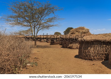 Masai Traditional African Huts Houses Made Stock Photo Edit Now