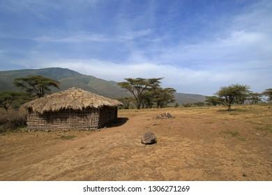 Masai village, Ngorongoro, Tanzania