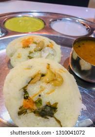 Masala Idli with Veg stew Sambhar South Indian food