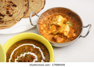 Masala Paneer with Dal Makhani, Indian Food