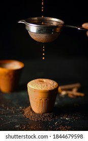 Masala Tea is Popularly known in India as Masala Chai or Herbal tea is being Poured in Earthen cups known as Kulhad. (Masala Chai/Kulhad chai)