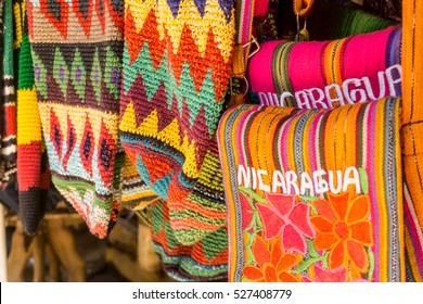 Masaya, Nicaragua   August 27, 2016: Artisan local tourist market from Masaya . The best place to buy souvenirs