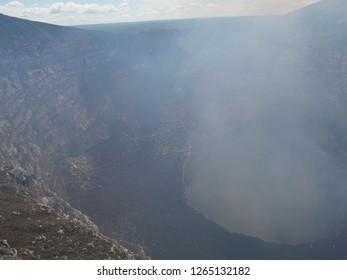 Masaya, Nicaragua -november 2018 : Masaya active volcano crater