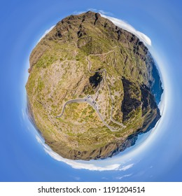 Masca Valley 360° Little Planet