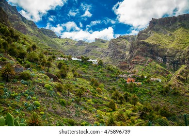 Masca Village and famous valley in Tenerife, Canary Islands, Spain