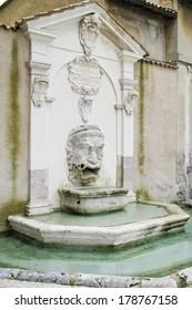 the mascherone fountain, in Piazza Campello in Spoleto