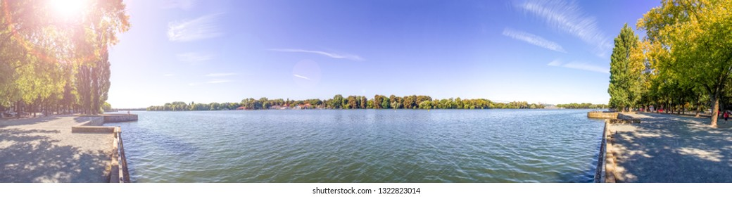 Maschsee in Hannover, Germany