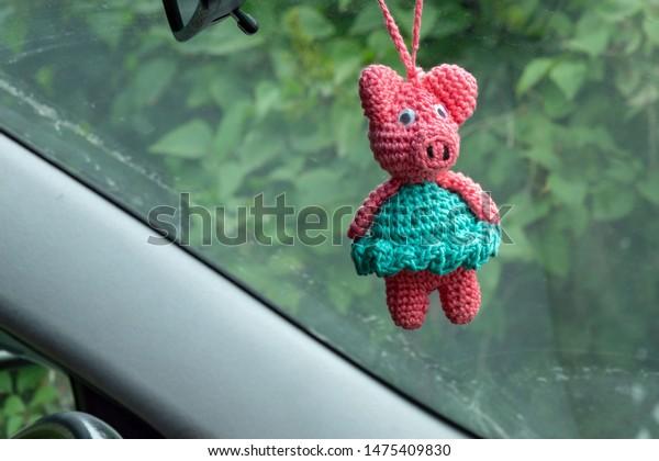 10*8 CM Mini Cute Bow Tie Pig Creative Keychain Crochet Hand ... | 420x600