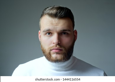 Masculinity and beauty. Well groomed bearded man stylish appearance. Hairstyle barber. Man bearded macho close up face. Barbershop concept. Beard grooming. Hipster style beard. Handsome bearded guy.