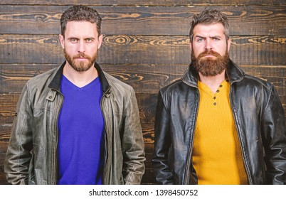 Masculinity concept. Masculinity attributes. Brutality confidence and masculinity interconnection. True man temper. Men brutal bearded hipster. Exude masculinity. Confident competitors strict glance.