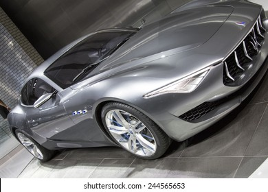 The Maserati  Alfieri concept car at The North American International Auto Show January 12, 2015 in Detroit, Michigan.