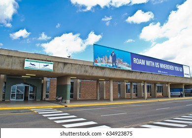 Maseru, Lesotho – November 25, 2016: Moshoeshoe International airport serves Maseru, the capital of Lesotho November 25, 2016. Lesotho is known as the Kingdom in the Sky because of its high altitude.