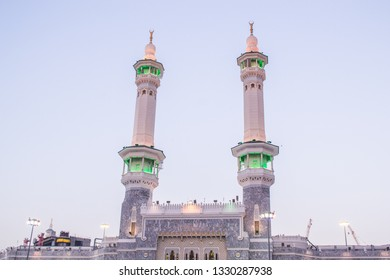 Masjid Al Nabawi or Nabawi Mosque (Mosque of the Prophet) in Medina (City of Lights),