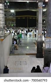 MASJID AL-HARAM, MECCA - MARCH 6, 2017:The atmosphere inside the Masjid al-Haram