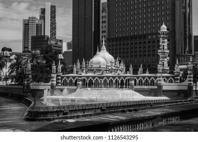 Masjid Jamek mosque which is located at the heart of Kuala Lumpur city. It added the new water features themed River of Life and launched in late of August in 2017.